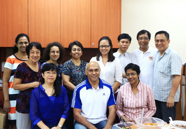 Wendy (top, third from left) with the ACCS team.