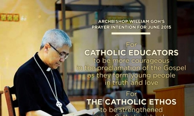 Join Archbishop William Goh in praying for our Catholic schools!