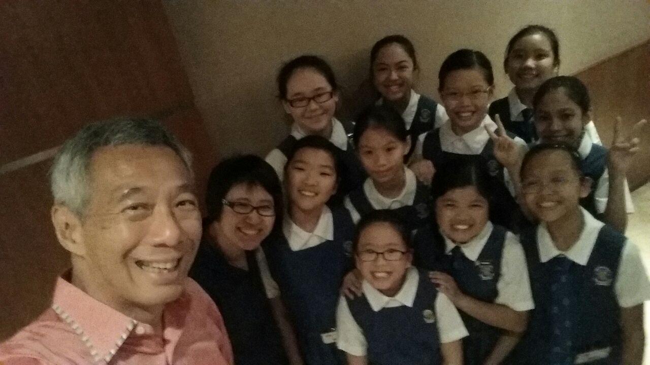 JoySG50 School CHIJ Kellock with Prime Minister Lee Hsien Loong