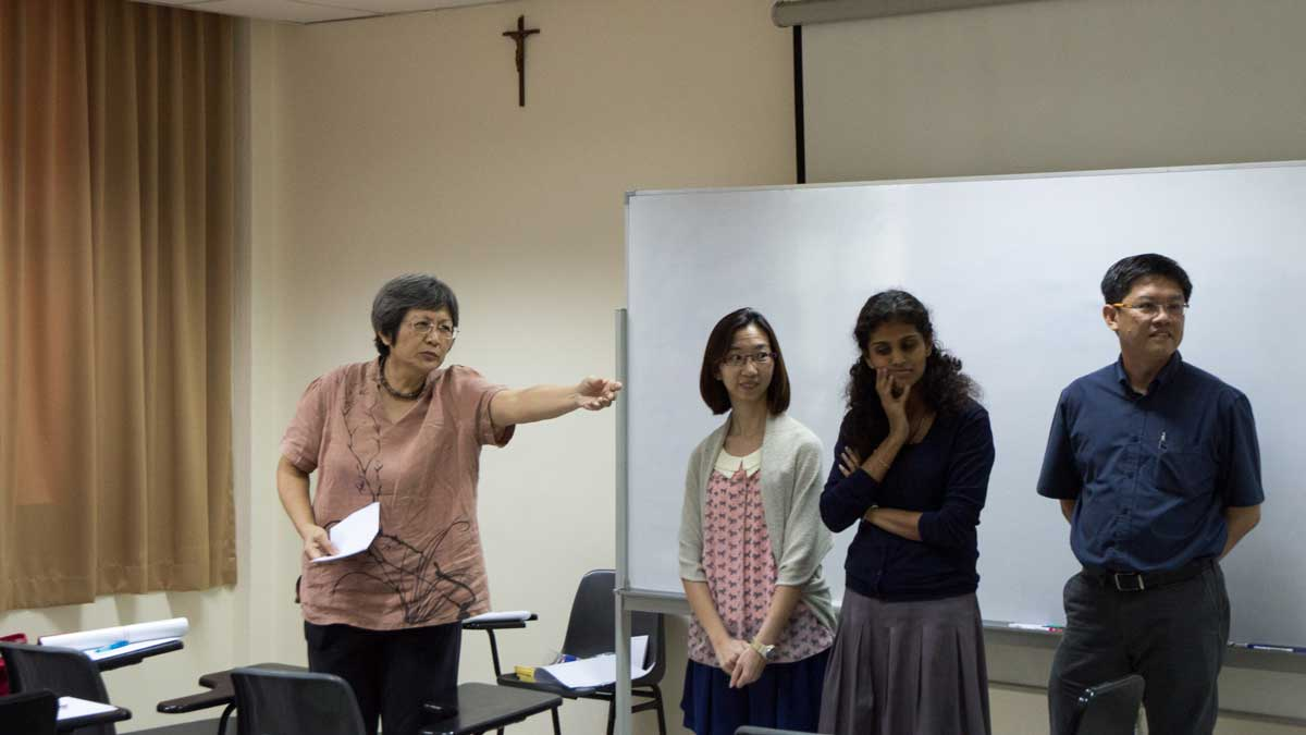 An engaging session was conducted by former RE educator, Mrs Patricia Lee.