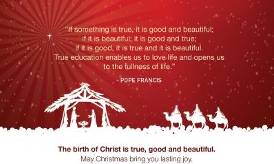 Christ's birth: True, Good, Beautiful
